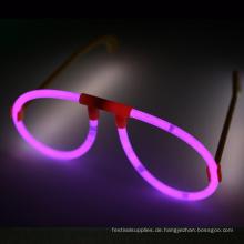 Rosa Leuchtstab-Gläser