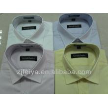 Los hombres de alta calidad del algodón del 100% visten las camisas del negocio para la manga larga FYST-L de los hombres