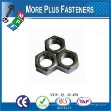Fabriqué en Taiwan Acier inoxydable en laiton Aluminium Silicone en bronze M64 Hex Heavy Nut