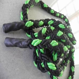 8 Strand PP Rope Black and Green
