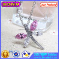 Silver Crystal Roller Skate Pendant Necklace Jewelry #B312