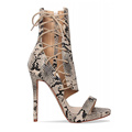 fino calcanhar lace up sandals ladies booties