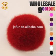 2015 Nueva moda accesorios de piel de conejo conejo Hotsale bola genuina encantadora 5-10cm conejo de piel real pompones
