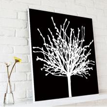 Черное и белое дерево Lucky Tree Canvas Печать Внутренняя отделка стен
