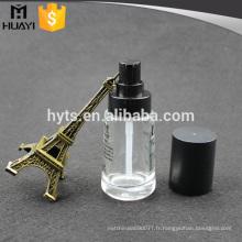 Bouteille liquide de base de verre de 30ml avec la pompe pour la crème de visage