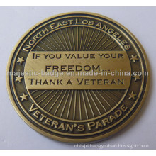 Customized Brass Die Struck Antique Bronze Plating Coins