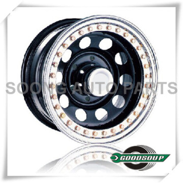 "Modular-Beadlock Wheels GS-30104 Steel Wheel from 15"" to 17"" with different PCD, Offset and Vent hole"