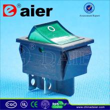 Daier 220V coloré 4pin interrupteur à bascule interrupteur à bascule bipolaire