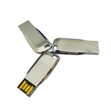 Metal prata pequena 4gb USB Flash Drive