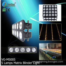 Vangaa Multi-Functions Jointed Pixel Audience Matrix Stage Blinder Light 5 Heads Lamps (VG-MS005)