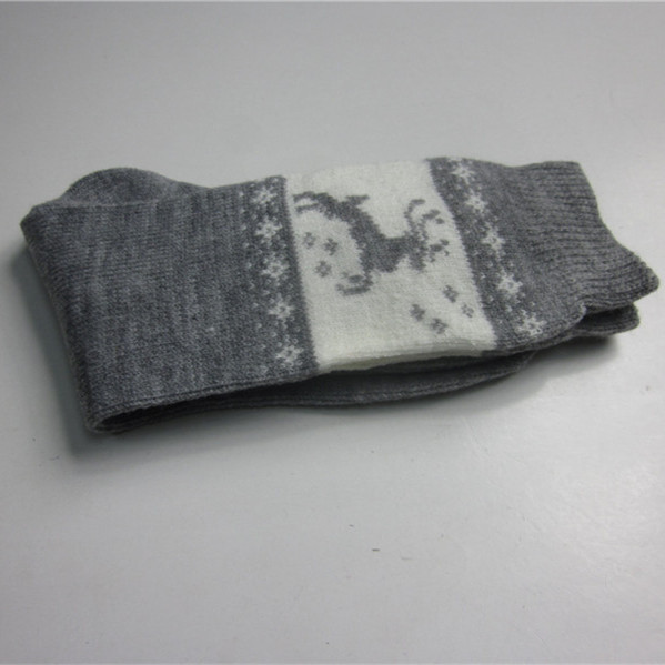 Deer Jacquard Winter Socks