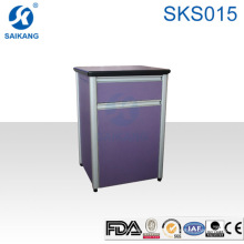 Armário plástico médico da cabeceira do hospital da forma SKS015