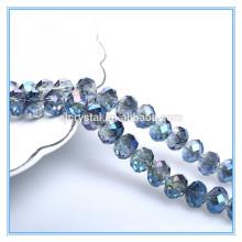 Nouvelles perles en verre cristallisé à facettes rondelle perles