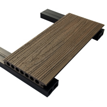 3d embossed hollow construction material wpc decking