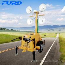 High quality metal halide trailer mobile generator lighting tower for night construction FZMTC-1000B