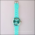 turquoise quartz movt sunray silicone rubber watch, fashion watches of women