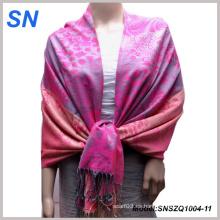 Dos tonos de color de las mujeres Pashmina noche bufanda estola mantón