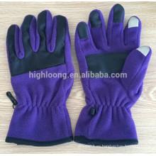 Nuevos guantes púrpuras del paño grueso y suave de la alta calidad del estilo para las parejas