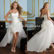 NY-2423 Crystal beading no vestido de casamento organza