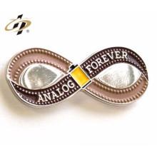metal personalizado hecho divertido insignia de pin de solapa de corona número 10