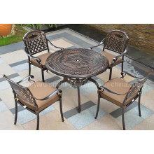 Mobilier de jardin extérieur fauteuil avec chaise en aluminium moulé (SZ216; SD515)