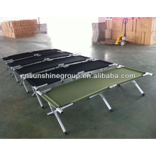 Folding army cot, military bed, camping bed with 600D carrying bag
