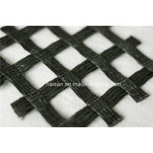 Factory Price 30 Kn/M Warp Knitting Polyester Geogrid Used in Abutment