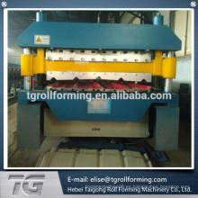 ISO9001 Tipo 840/900 panel de tejado rollo de doble capa que forma la máquina para Rusia