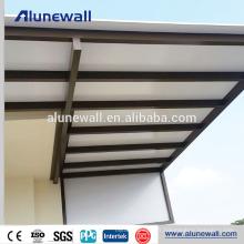 Panneaux de plafond de construction de construction de 5mm en aluminium panneau composite ACP feuille