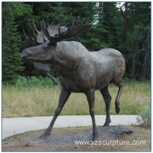 Outdoor Large Size Bronze Moose Sculpture For Sale