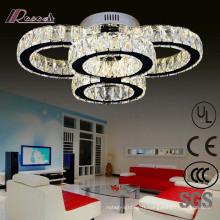 Lampe de plafond ronde en cristal décorative de l'hôtel européen LED