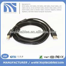 Nuevo tipo de cable de la impresora del USB 2.0 de 5M a mecanografiar a varón M / MA / B del varón B Alta calidad azul