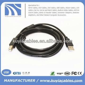 Nouveau 5M USB 2.0 Type d'imprimante Type A Homme à Type B Mâle M / MA / B Cord Bleu Haute qualité