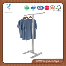 Customized 2 Way Adjustable Cloth Rack with Wave Hangrail