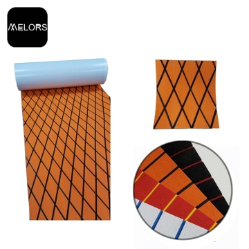 Melors EVA Diamond Orange Sheet Adhesive Flooring