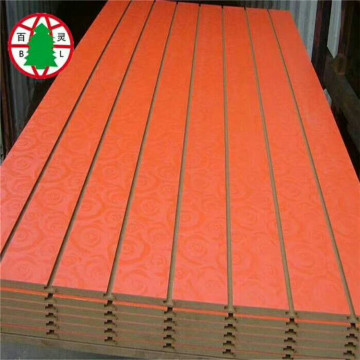 One side faced Grain Melamine Slot MDF Panel
