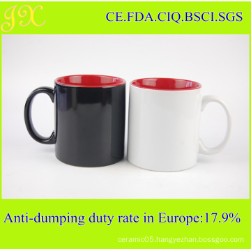 Eco-Friendly 20oz Double Tone Colored Ceramic Mug Cups