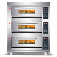 3 decks 3 trays 6 trays 9trays bread oven with timer gas baking deck oven machine with digital panel Boulangerie