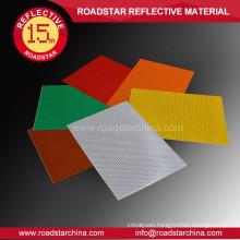 Faveolate durable acrylic reflective sheeting
