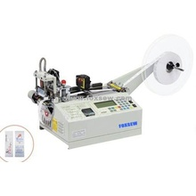Automatic Printed Satin Labels Cutting Machine Hot Knife with Sensor