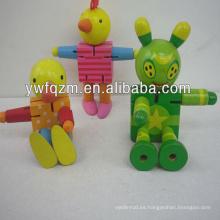 Juguete robot transformador de madera