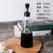 Hqigh Borosilicate Corrosion-Resistant Glass Oil Bottle Creative Leak Proof Bottle for Kitchen Supplies Oil Bottle Can Be Customized