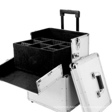 Aluminium Cosmetic Case with Trolley and Trays