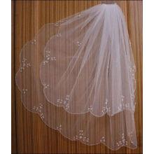 New Hot 2013 2T Marfim branco Cotovelo Beaded Edge pérola lantejoulas Véu de casamento nupcial