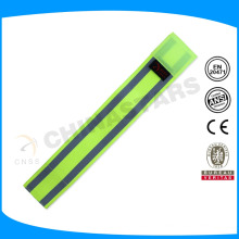 Brazalete deportivo elástico reflectante de tamaño ajustable