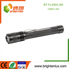 Factory Supply 2*AA battery Powered Aluminum Handheld Night Used Emergency CREE Q3 led Strong light Flashlight Torch