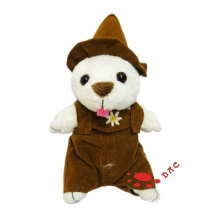 plush musical bear key ring