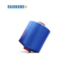 el aire más colorido colorido 4075 / 48F del poliéster cubrió el hilado de Spandex para hacer calcetines