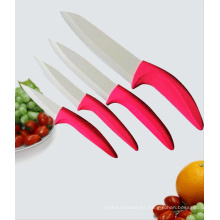 Cuchillo de cerámica del zirconia de la manija roja, cuchillos de cerámica (C3456)