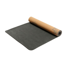 Yugland  good quality factory directly microfiber printed yoga mats heat transfer printing natural cork yoga mat